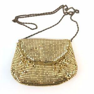 Handbags - Gold Sequins Crossbody Evening Purse Handbag
